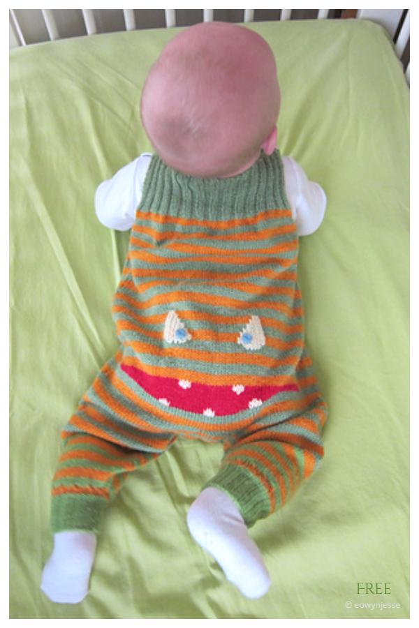 Uzorak besplatnog pletenja Teddymonster Pepita Baby Onesie