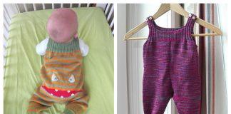 Pepita Baby Onesie Free Knitting Pattern