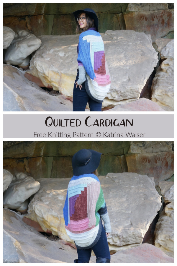 Quilted Cardigan Free Knitting Pattern
