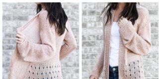 Senna Summer Sweater Cardigan Free Knitting Pattern