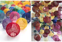 Shadows Ball Ornament Free Knitting Pattern