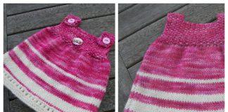 Simple Baby Dress Free Knitting Patterns