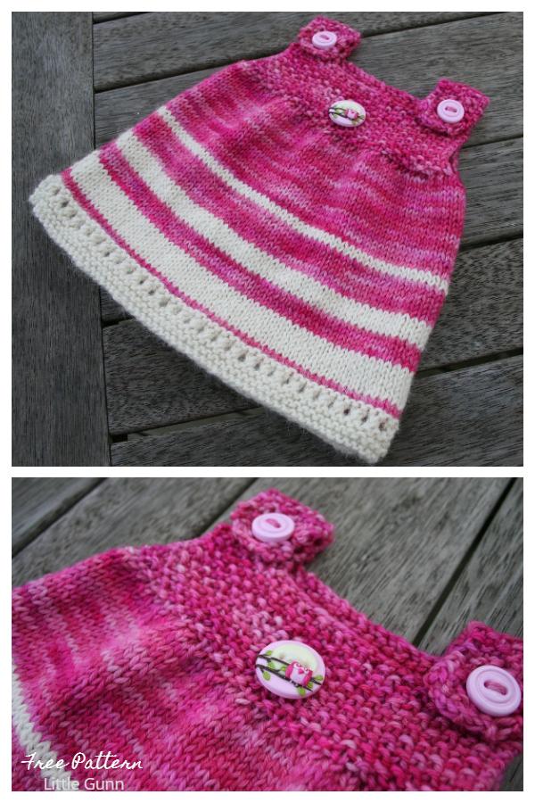 Abito a tunica super semplice per bambini Modelli di lavoro a maglia gratuiti