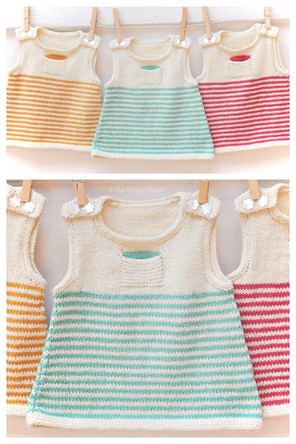 Clementine Baby Dress Modelli di lavoro a maglia gratuiti
