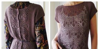Summer Chic Lace Tee Top Free Knitting Pattern