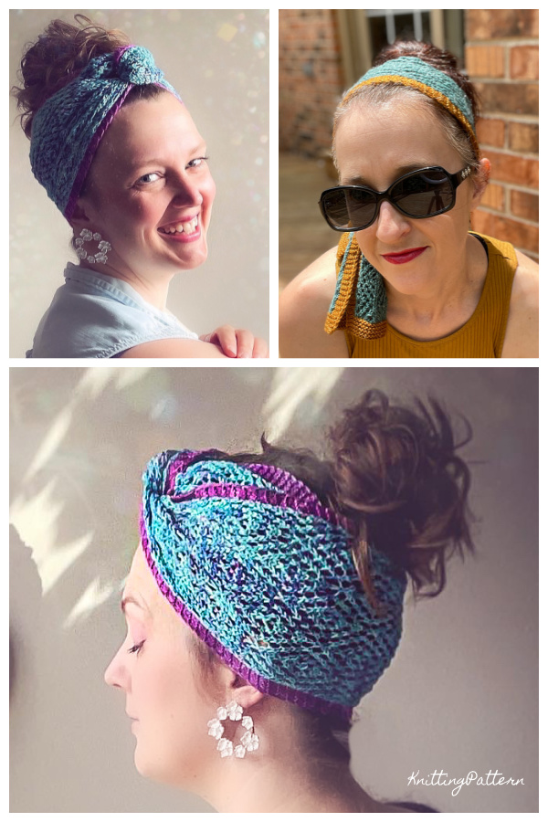 Twilight Time Headwrap Knitting Pattern