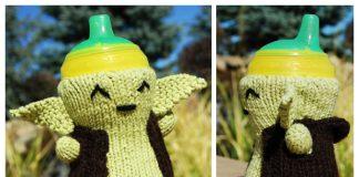 Yoda Baby Bottle Cozy Free Knitting Pattern