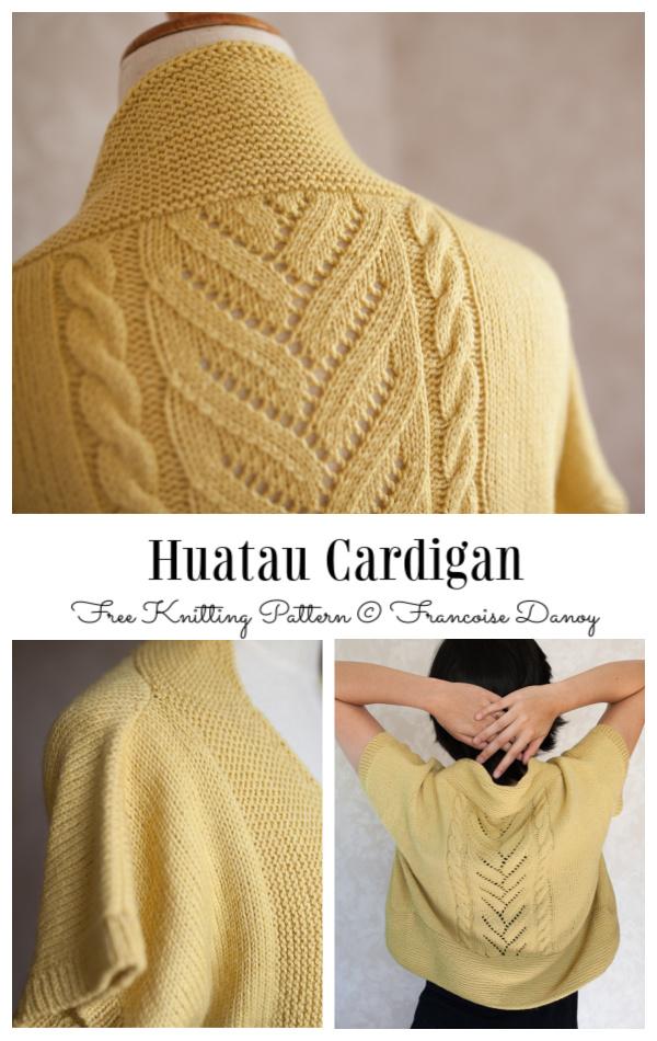 Huatau Cardigan Free Knitting Pattern
