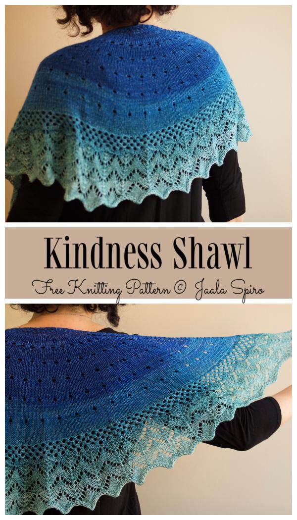 Knit Lace Kindness Shawl Free Knitting Pattern
