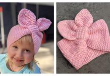 Knit Bunny Ears Headband Free Knitting Pattern + Video