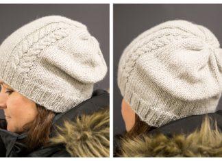 Latu Cable Beanie Hat Free Knitting Pattern