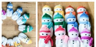 Mini Snowbuddies Free Knitting Pattern