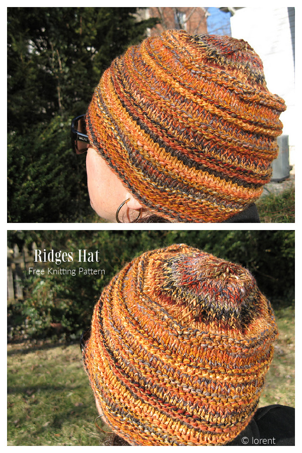 Ridges Hat Free Knitting Patterns