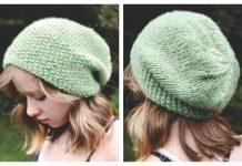 Knit Bulky Seed Stitch Brim Slouch Free Knitting Pattern