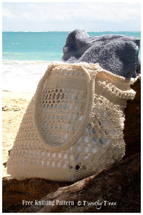 Knit Not a Sandy Bottom Market Bag Free Knitting Patterns