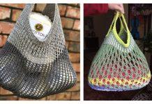 Knit Slouchy Market Bag Free Knitting Patterns