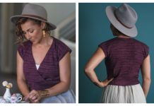Keziah Summer Sleeve Top Free Knitting Pattern-Limited Time
