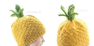Knit Sweet Pineapple Hat Free Knitting Pattern