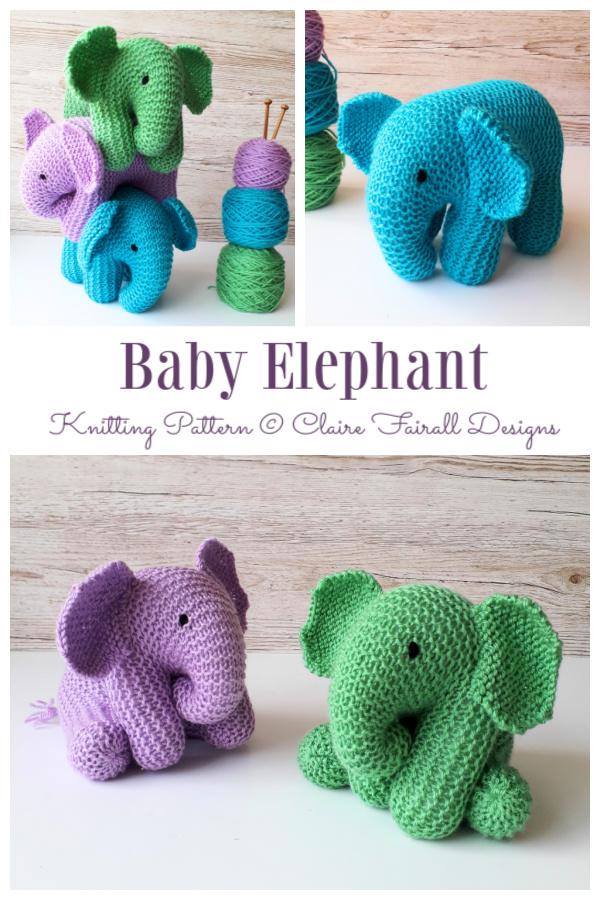 Amigurumi Baby Elephant Knitting Patterns
