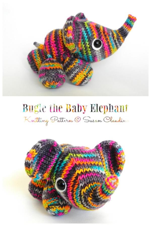 Amigurumi Bugle the Baby Elephant Knitting Pattern
