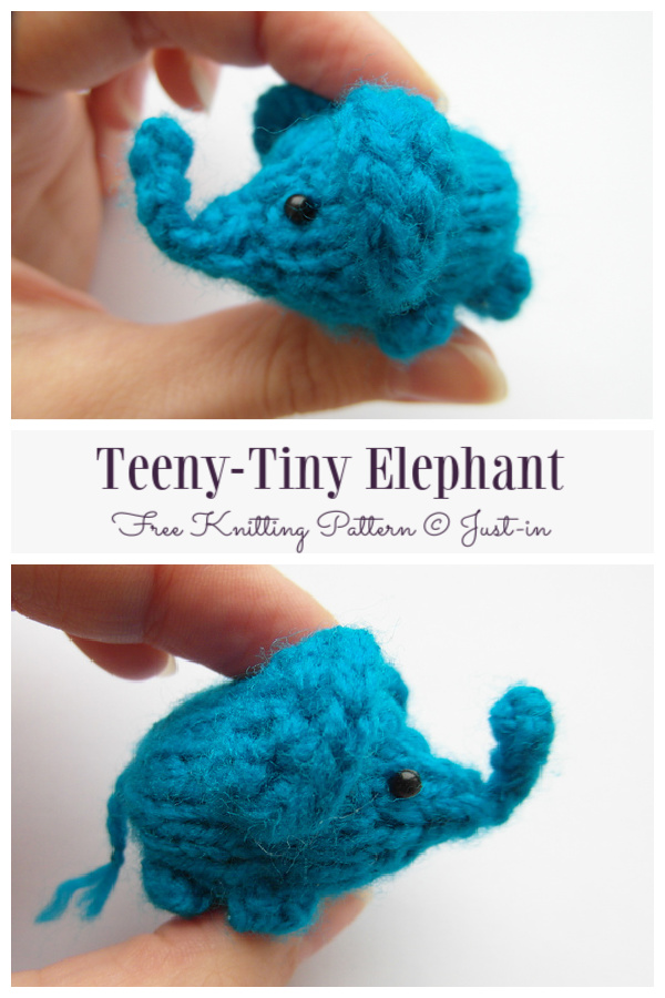 Amigurumi Teeny-Tiny Elephant Free Knitting Pattern