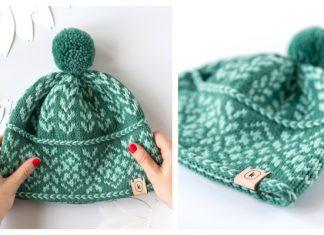 Knit August Hat Free Knitting Pattern