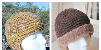 Bottom Up Neckflap Bun Hat Free Knitting Pattern