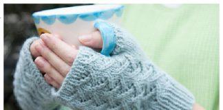 Cafe au Lait Mitts Free Knitting Pattern