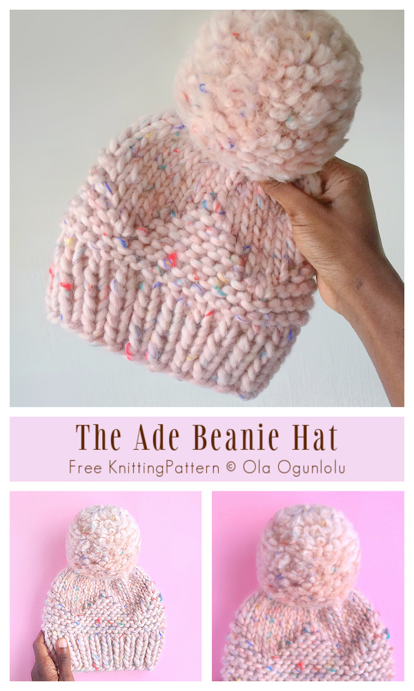 The Ade Beanie Hat Free Knitting Pattern