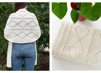 Diamond Blanket Wrap Free Knitting Pattern