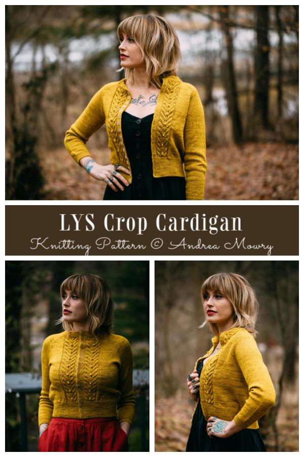 LYS Crop Cardigan Knitting Pattern