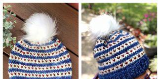 Love Line Beanie Hat Free Knitting Pattern