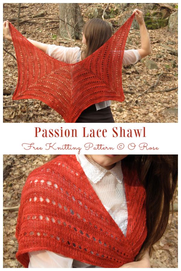 Knit Passion Lace Shawl Free Knitting Pattern