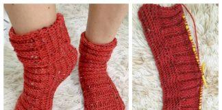 Winter Half Slippers Free Knitting Pattern