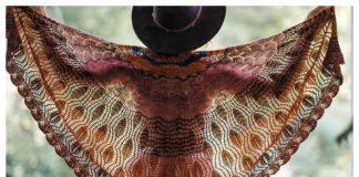 Acalypha Feather Shawl Knitting Pattern