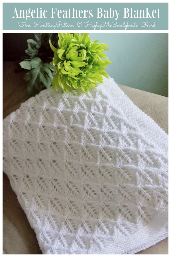 Angelic Feathers Baby Blanket Free Knitting Pattern