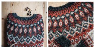 Knit Autumn Pullover Sweater Free Knitting Pattern