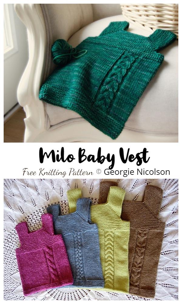 Milo Baby Vest Knitting Patterns