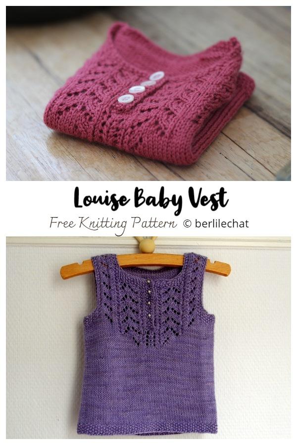 Louise Baby Vest Free Knitting Patterns
