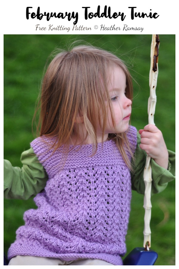 February Toddler Tunic Free Knitting Patterns