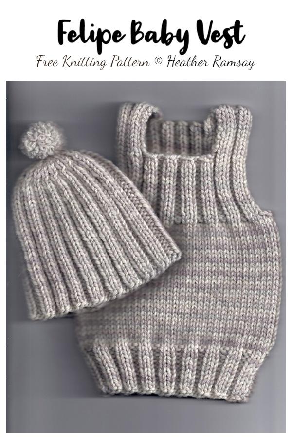 Felipe Baby Vest Free Knitting Patterns