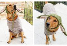 Knit Baby Yoda Dog Sweater & Hat Free Knitting Pattern