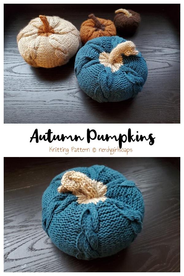 Autumn Pumpkins  Knitting Patterns