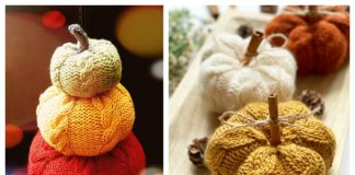 Cable Knit Pumpkins Free Knitting Patterns