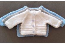 Knit Cacey Newborn Baby Cardigan Free Knitting Pattern