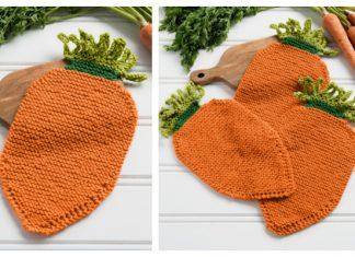 Carrot Dishcloth Free Knitting Pattern