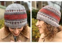Knit Fair-isle Clayoquot Toque Hat Free Knitting Pattern