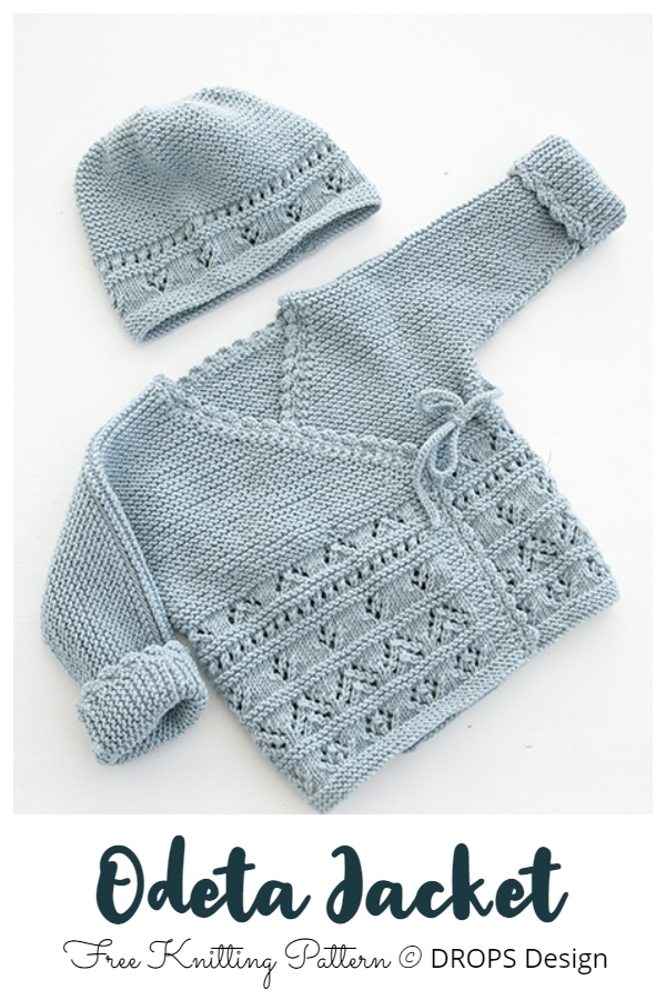 Odeta Jacket Baby Kimono Free Knitting Patterns