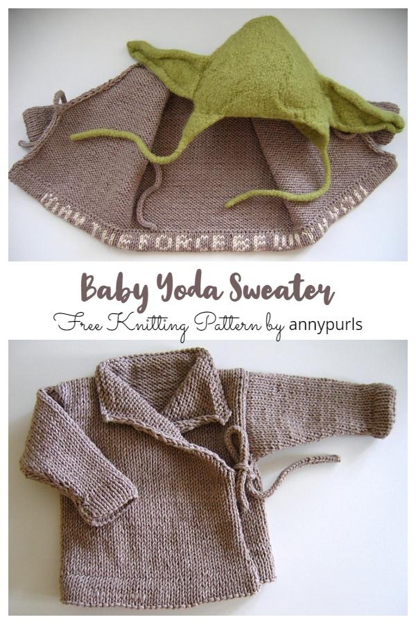 Baby Yoda Sweater Free Knitting Pattern