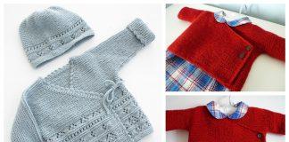 Garter Stitch Baby Kimono Free Knitting Patterns
